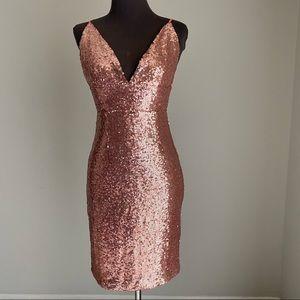 Hot Miami Styles sz L sequin mini dress